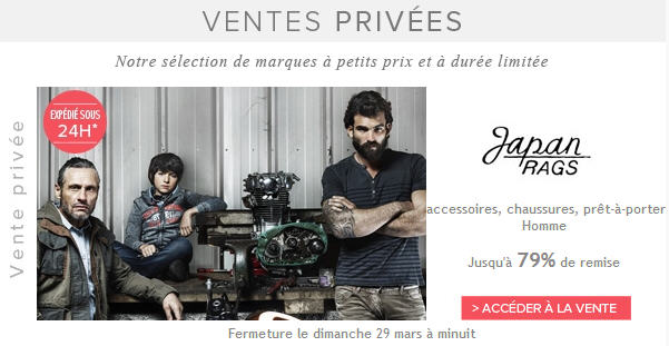 Vente privée Japan Rags