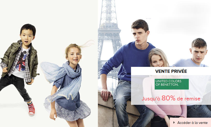 Vente privée Vetements Benetton