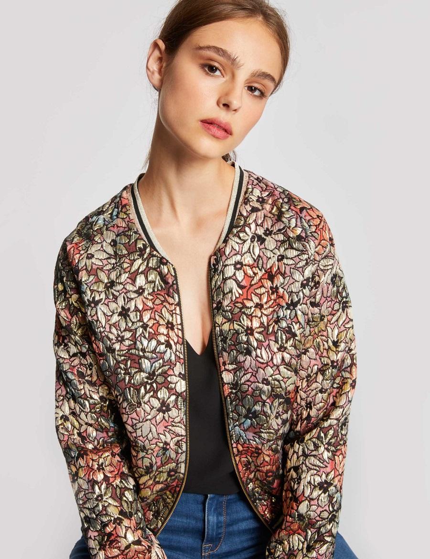 Veste courte à motif floral Morgan