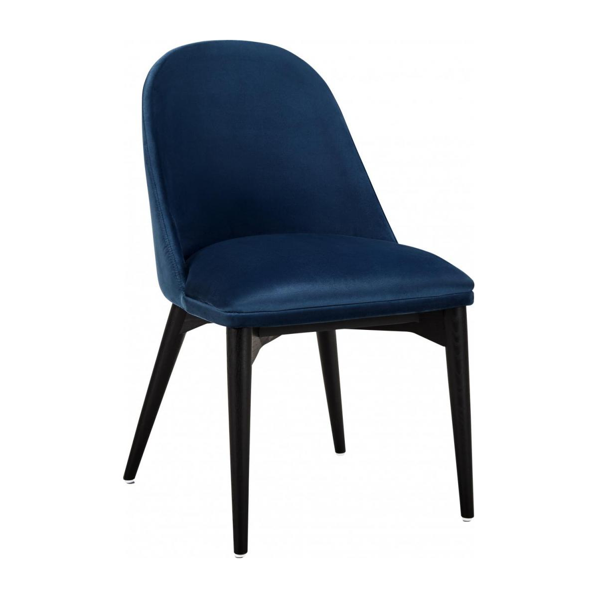 Vittorio Chaise Design en Velours Bleu Habitat