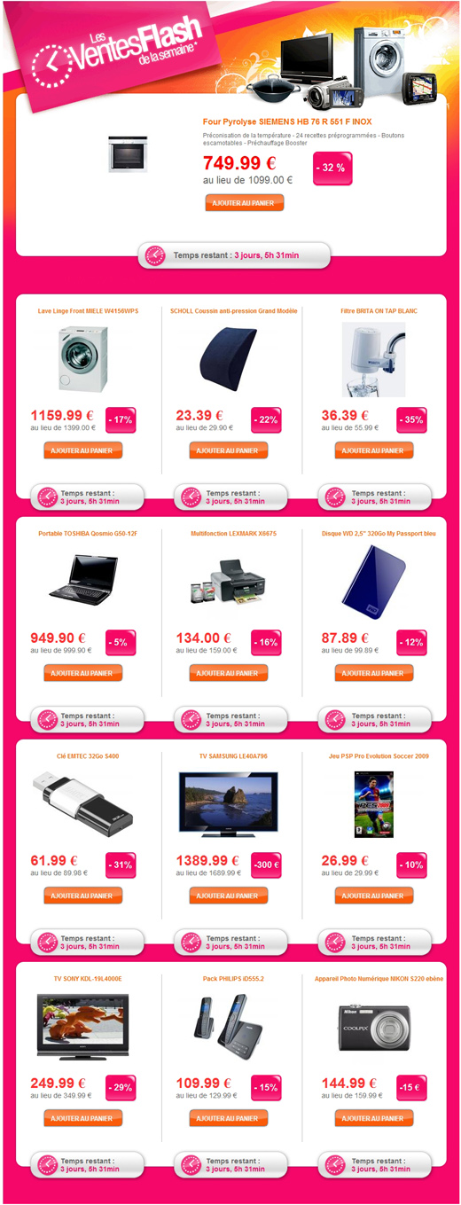 Webdistrib ventes flash cl emtec 32go s400 ventes pas - Vente flash electromenager ...