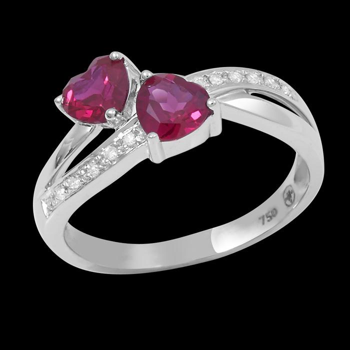 bagues diamant unique bague passionn e or blanc 18 carats diamants carat et rubis. Black Bedroom Furniture Sets. Home Design Ideas