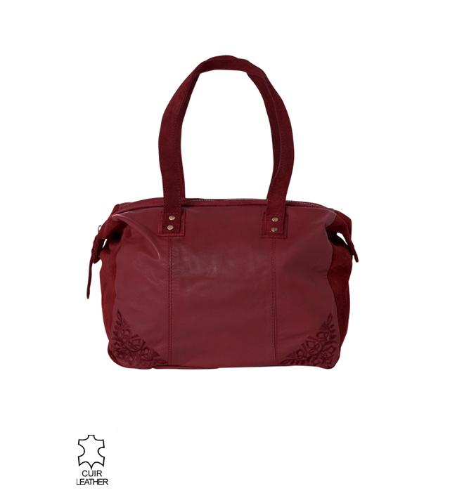 sacs pas cher promod sac main femme en cuir carmin. Black Bedroom Furniture Sets. Home Design Ideas
