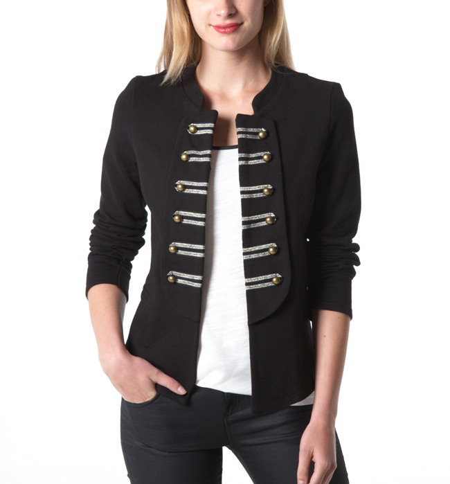 veste promod veste femme officier noir ventes pas