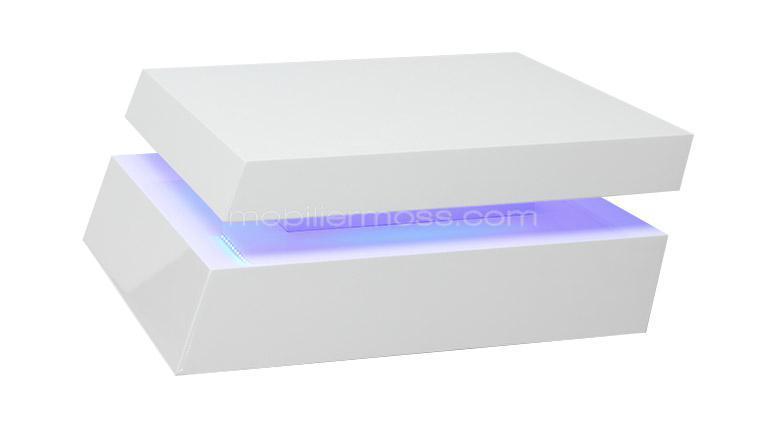 table basse blanche design leds zutrem soldes table basse mobilier moss ventes pas. Black Bedroom Furniture Sets. Home Design Ideas