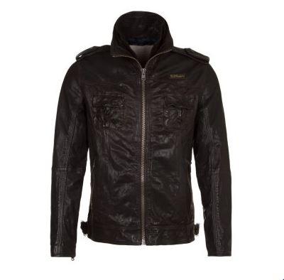 soldes veste en cuir homme zalando superdry ryan veste en cuir marron ventes pas. Black Bedroom Furniture Sets. Home Design Ideas