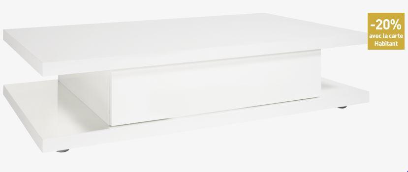 Achat meuble pas cher meubles prix discount canap - Table basse blanche pas chere ...