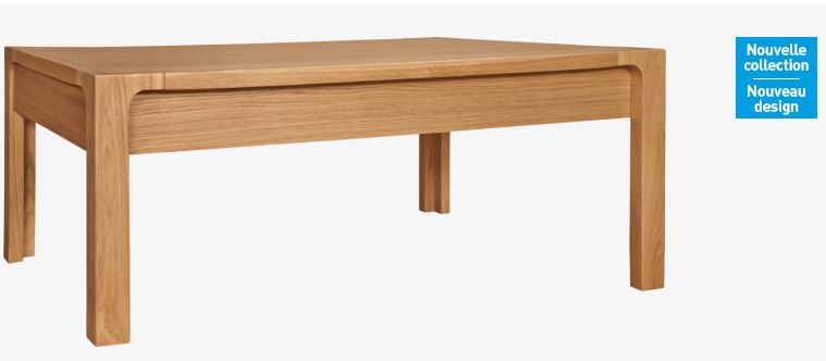 Ivoine table basse en ch ne habitat table basse habitat ventes pas - Table basse en chene pas cher ...