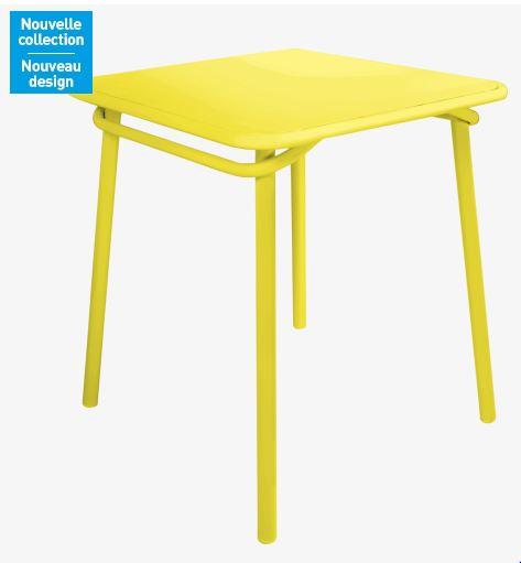 heva table de jardin jaune habitat table de jardin habitat ventes pas. Black Bedroom Furniture Sets. Home Design Ideas