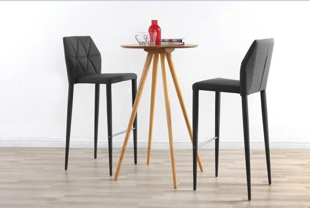 tabouret de bar design karla grises tabouret de bar miliboo ventes pas. Black Bedroom Furniture Sets. Home Design Ideas
