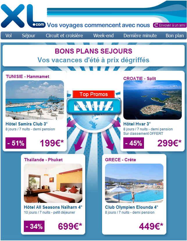 Xl Voyages Vos Vacances d'été à Prix Dégriffés