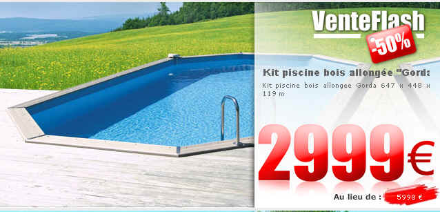 Vente flash piscine kit piscine bois allong e gorda habitat et jardin ventes pas for Vente de piscine pas cher