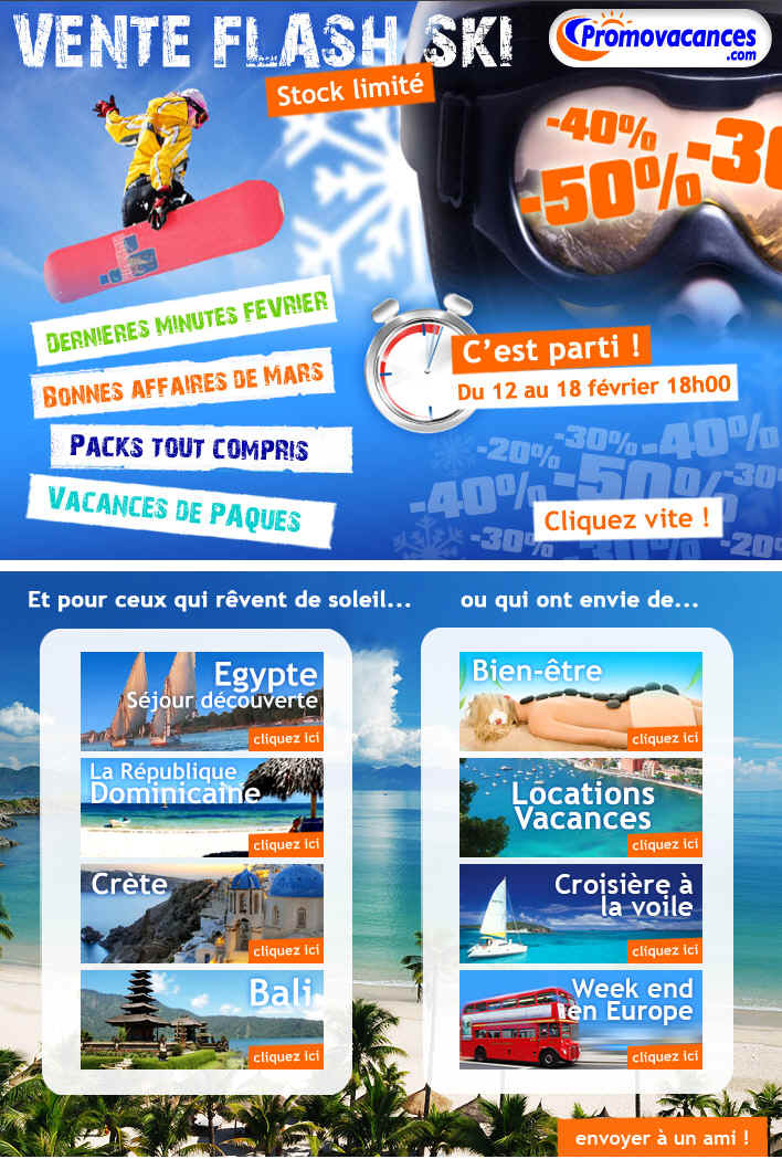 Vente flash promovacances vente flash ski promo jusqu 39 a 50 sur promov - Discount vente flash ...